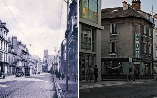 Rue Gambetta, à gauche, rue de l'Equerre