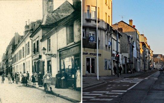 Rue Gambetta, à gauche, rue des Orphelins