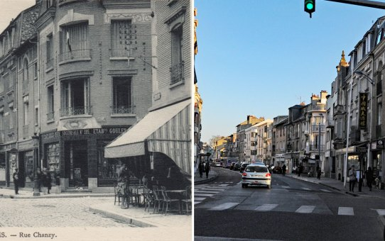 Rue Chanzy, à droite, la rue Hincmar