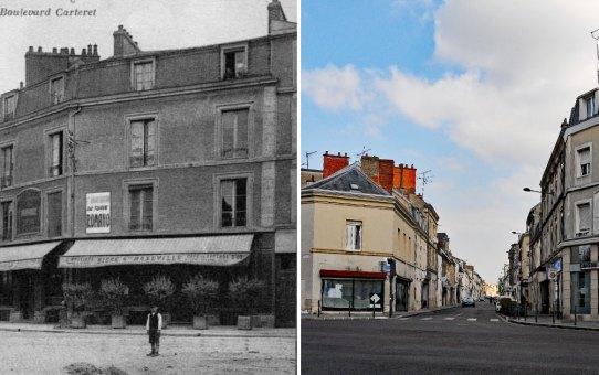 Angle de la rue de Cernay et du boulevard Carteret et Saint-Marceaux