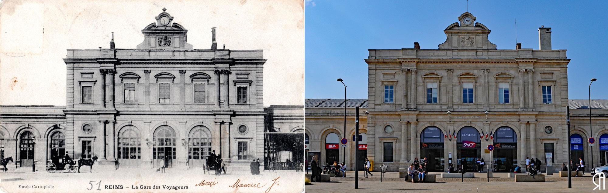 La gare de Reims avant, pendant, après la Grande Guerre et enfin en 1975