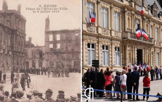 Centenaire de la remise de la Légion d'Honneur à la ville de Reims le 6 juillet 1919