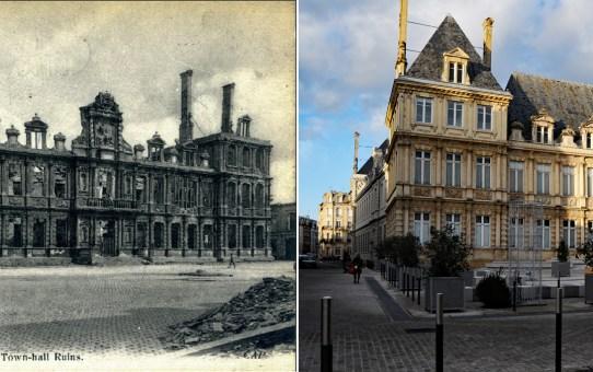 L'Hôtel de Ville avant, puis après la Grande Guerre