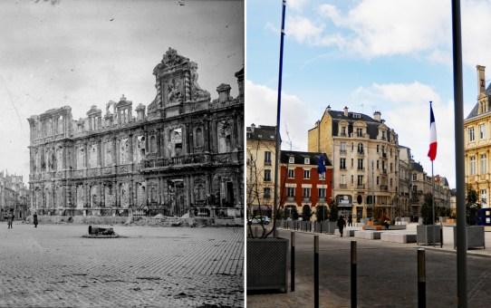 Hôtel de Ville après l'incendie du 3 mai 1917