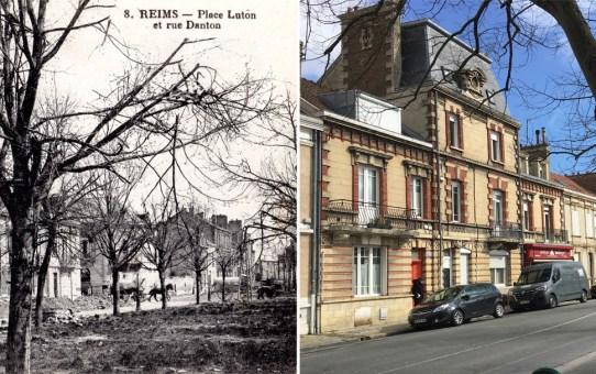 Place Luton et la rue Danton
