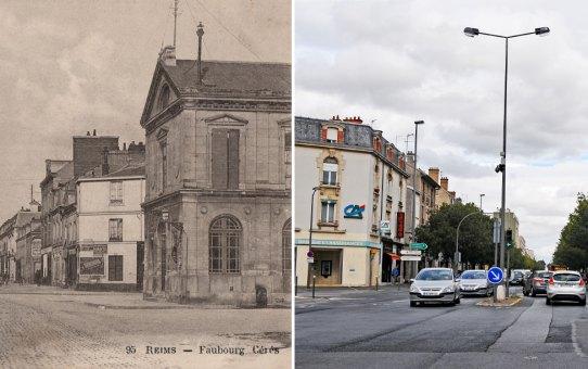La bibliothèque Holden et les bureaux de l'octroi, avenue Jean-Jaurès