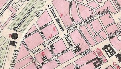 Plan de l'impasse Saint-Jacques 1880