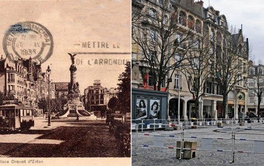 La place d'Erlon et le tramway en 1933