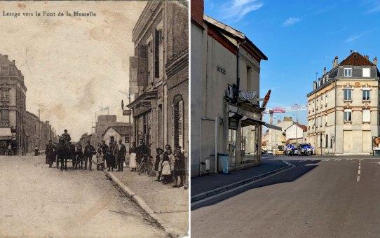 La rue Lesage vers le pont de la Husselle