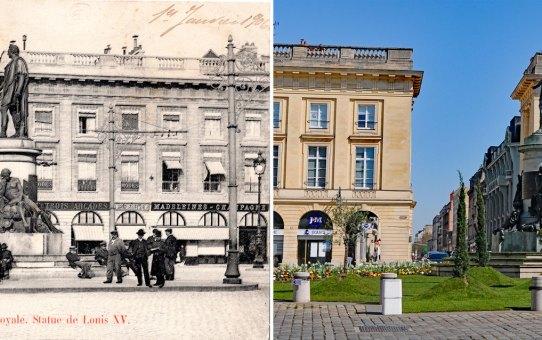 """La place Royale, le tramway, les """"Louis XV"""""""
