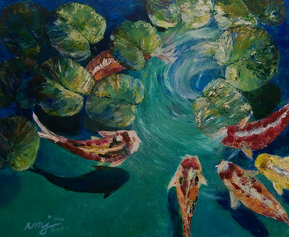 Acrylic on Canvas, Blue Tranquility, size: 24x30, $450.00