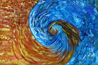 Acrylic on Canvas, Fire and Ice 3, Caged Poenix, size: 24x16, Not Available