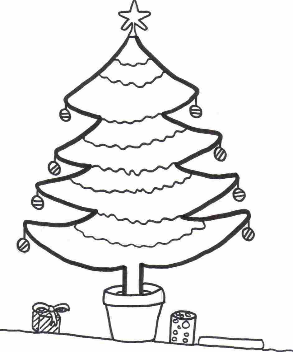 Xmas Tree Coloring Sheet
