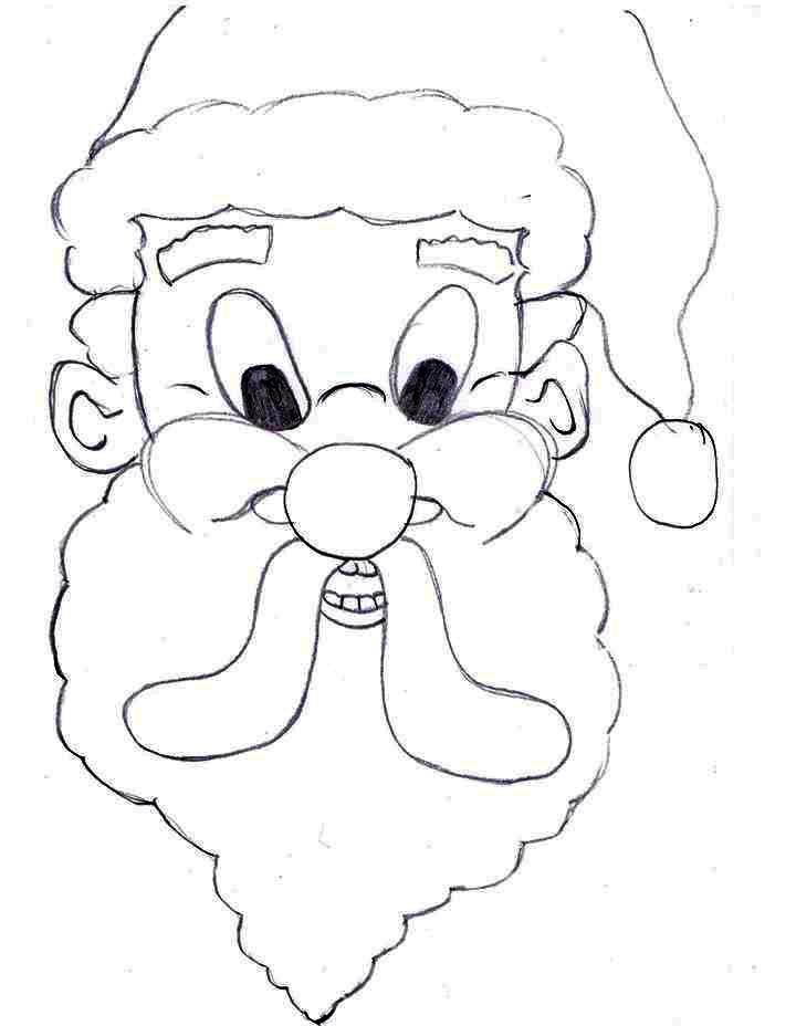 Santa Face Coloring Sheet