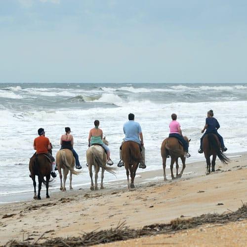 promenade à cheval sur la plage St Malo