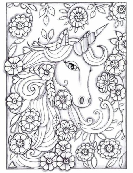 Printable Unicorn Coloring Pages For Adults