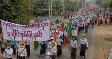 Protes Kudeta Myanmar Terus Berlangsung, 460 Orang Dilaporkan Tewas