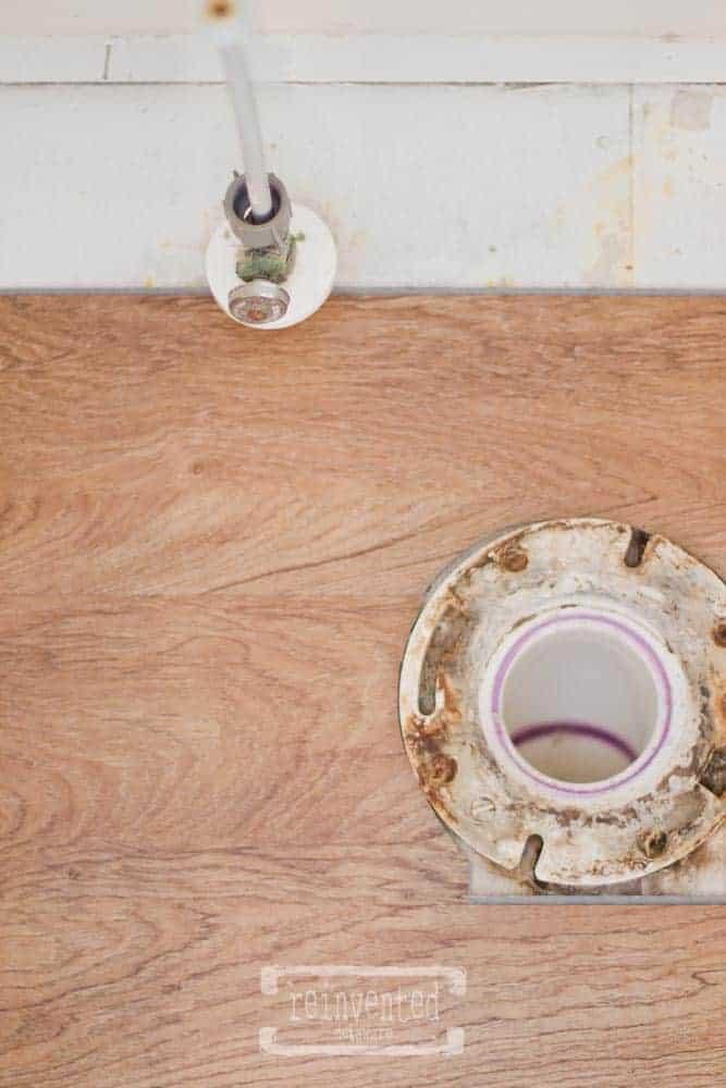 Our Small Bathroom Floor Reno Shaw Versalock Vinyl Plank