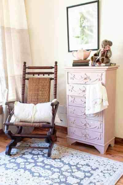 Scroll Work Dresser in MMS Arabesque Milk Paint