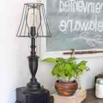 Easy Lamp Makeover with MMS Milk Paint