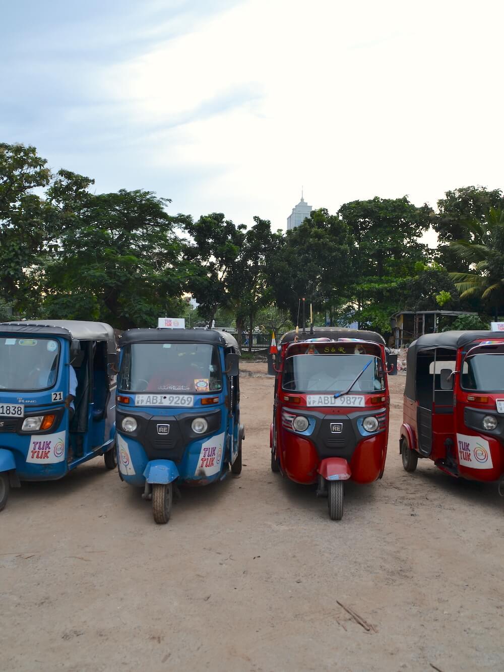Wat te doen in Sri Lanka: tuktuks