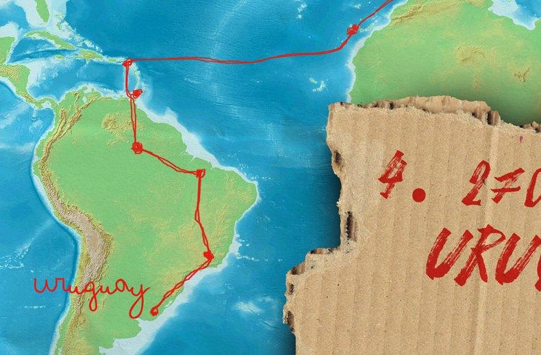 Von Leipzig nach Alaska per Anhalter: Entspannt in Uruguay (4)