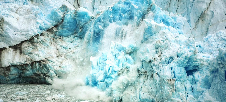 Abbrechender Gletscher