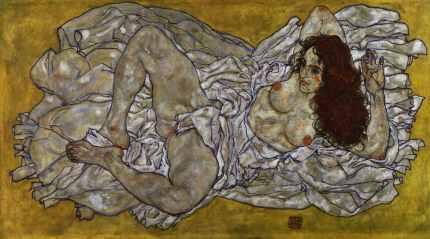 Egon Schiele: Liegende Frau, 1917