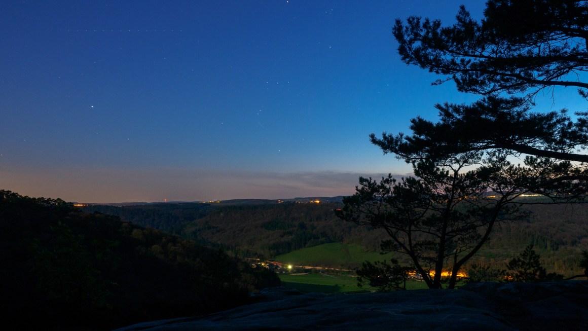 Nachtelijke hemel boven Berdorf