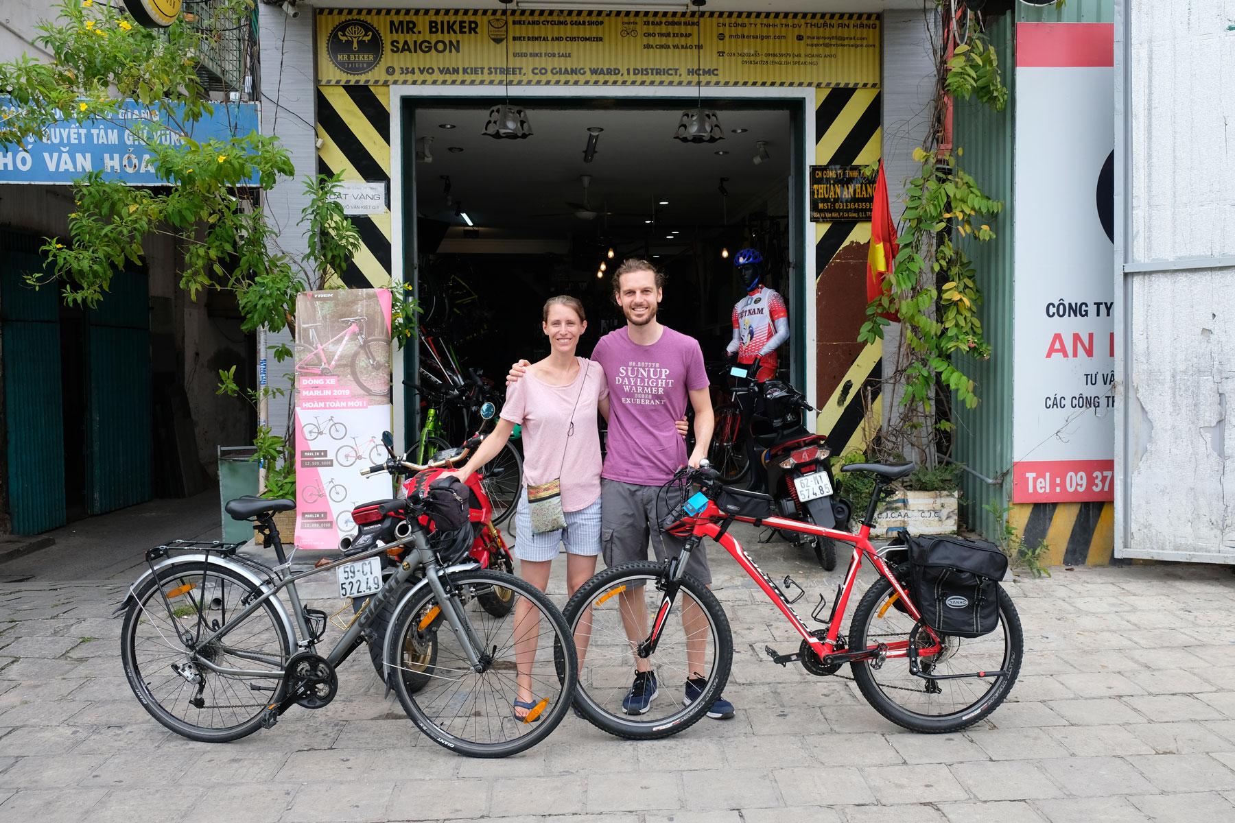 Vorbereitungen einer Fahrradreise