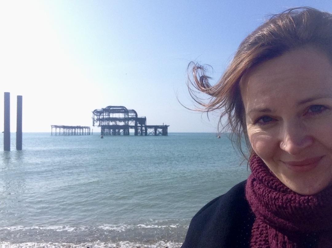 Aan zee in Brighton, Zuid-Engeland