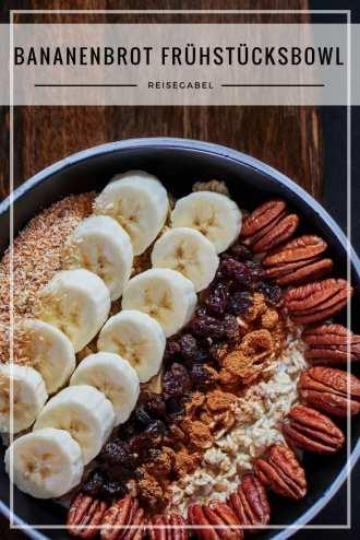 Bananenbrot Frühstücksbowl