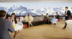 Lounge der AUA in Wien-Schwechat (F: AUA / beigestellt)