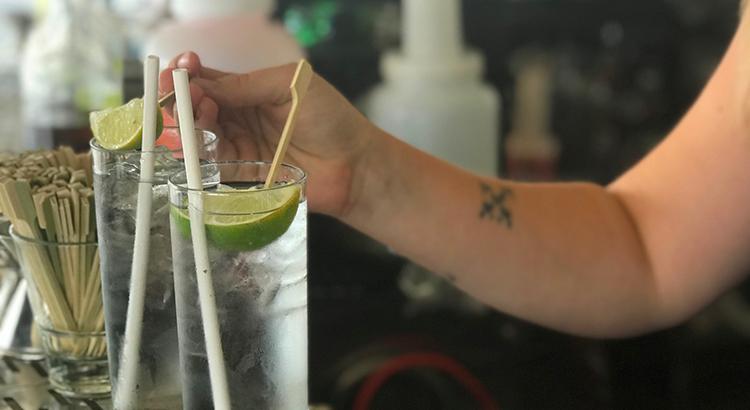 Strohhalm im W Washington - aber nicht aus Plastik!