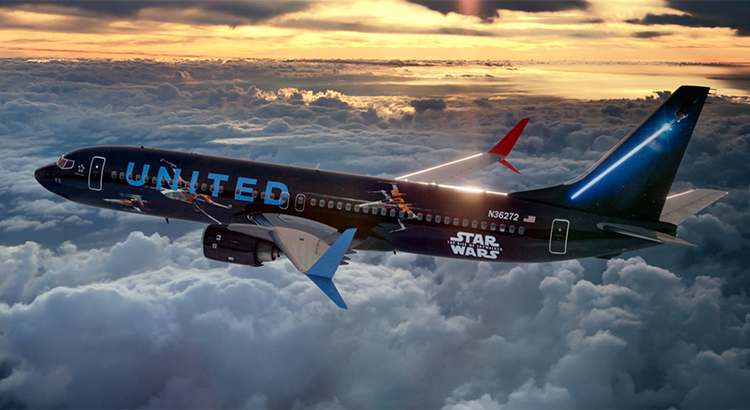 United-Jet im Star Wars-Design (Foto: United / beigestellt)