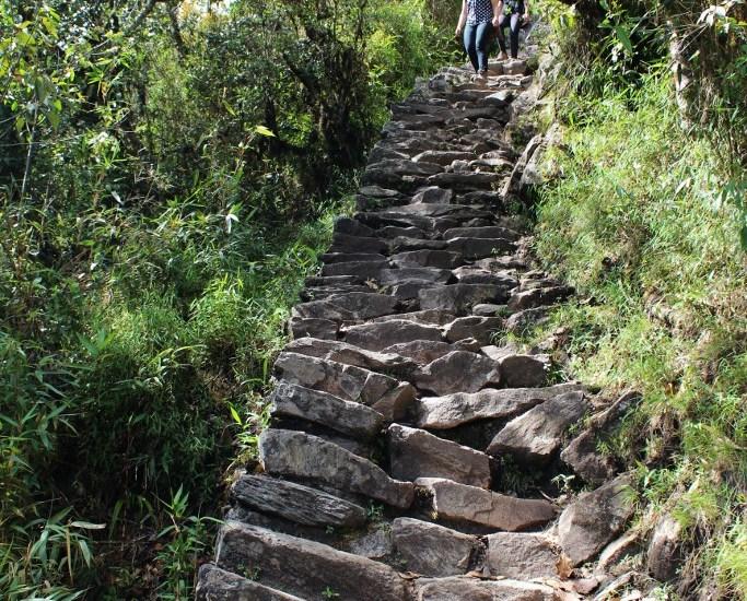 Ziemlich steile Treppen