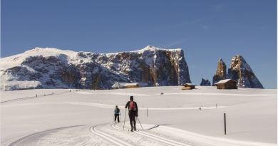 Langlauf im Winter in Graubuenden