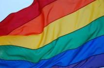 Die Regenbogenfahne, das Symbol der homosexuellen Bewegung