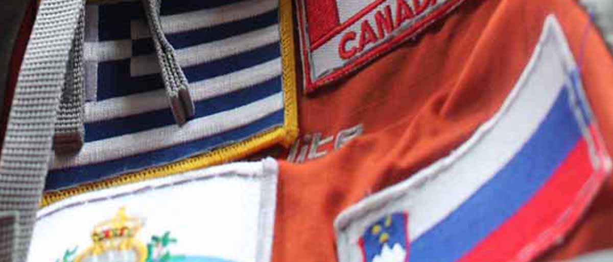 Flaggenaufnäher: Rucksack benähen