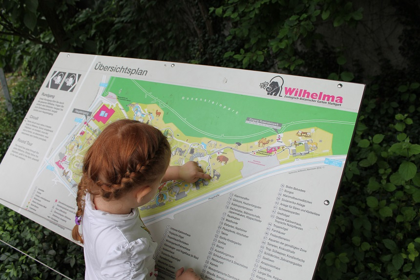 Wilhelma mit Kindergartenkind
