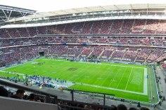 Sehr gut gefülltes Wembley Stadion zum Spiel Bills gegen Jaguars (NFL International Series 2015)