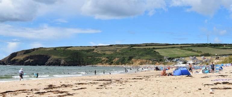 Praa Sands in Cornwall mit Kindern