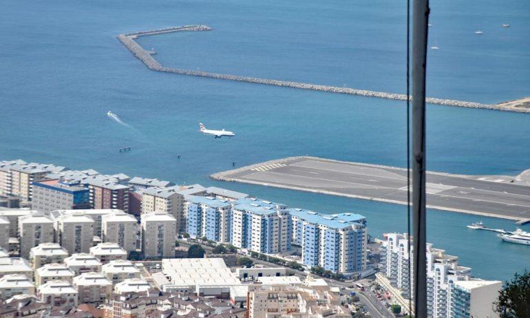 Lande bzw. Startbahn Flughafen Gibraltar