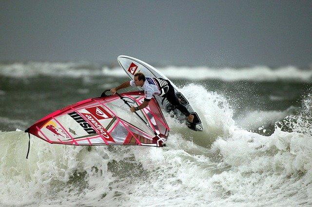Surfen Profis auf Sylt