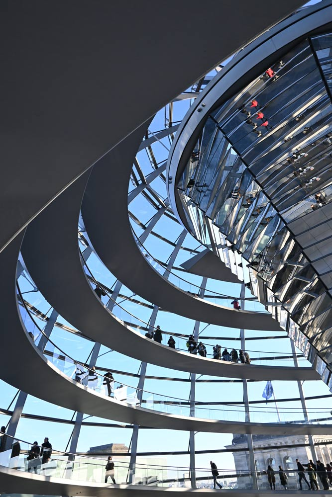 Die Kuppel des Reichstagsgebäudes