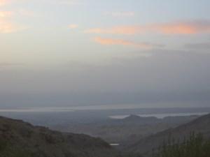 Der erste Blick aufs Tote Meer