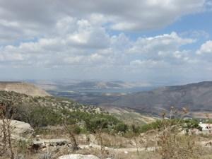 Blick von Umm Qais auf den See Genezareth