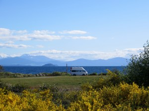 Unser Freedom-Campingspot am Lake Taupo