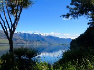 Blick vom Campingplatz am Lake Wanaka