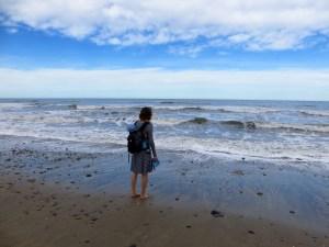 Strand beim Moeraki Boulders Kiwi Holiday Park